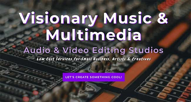 Visionary Music & Multimedia Web, Audio & Video Production Studio