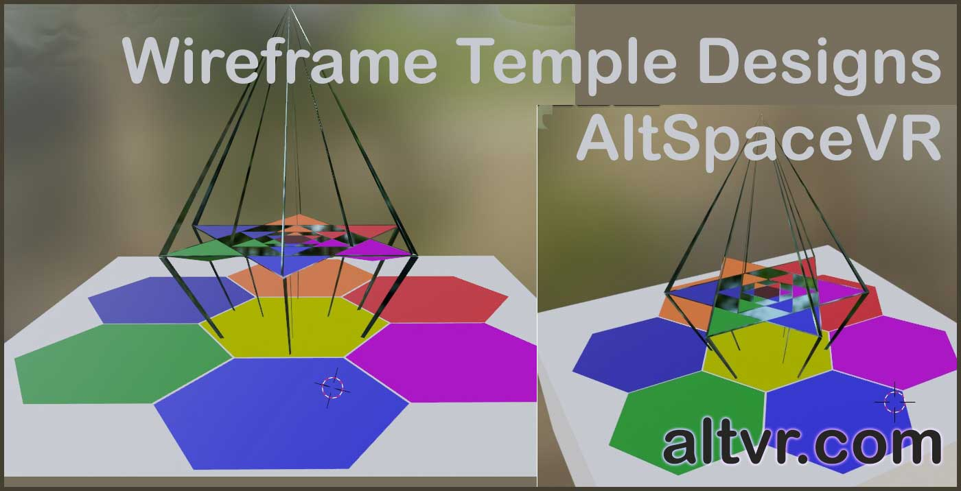 Wireframe Temple Design